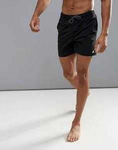 Черные шорты для плавания с логотипом adidas BJ8746 - Черный