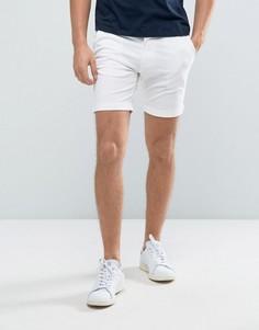 Эластичные шорты чиносы слим Selected Homme - Белый