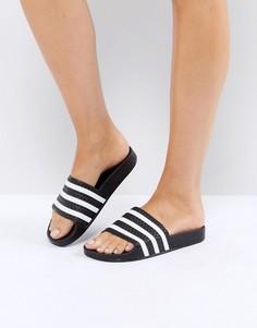Черные шлепанцы adidas Adilette - Черный