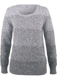 Пуловер меланж с цветовым переходом (антрацитовый) Bonprix