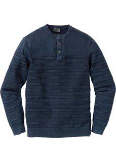 Пуловер Slim Fit (синий) Bonprix