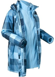 Куртка 3 в 1 (темно-синий в клетку) Bonprix