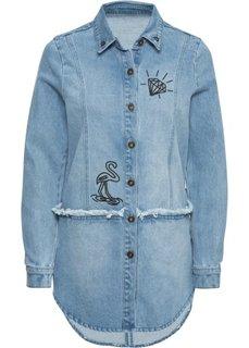 Джинсовая куртка в стиле оверсайз (голубой) Bonprix