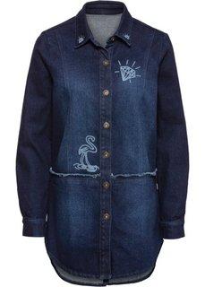 Джинсовая куртка в стиле оверсайз (темный деним) Bonprix