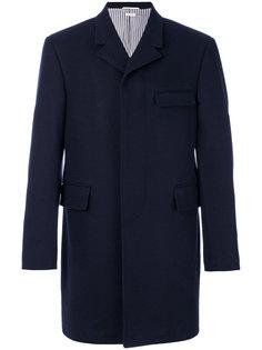 пальто с карманами с клапаном  Thom Browne