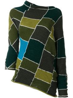асимметричный свитер в стиле пэчворк Marni