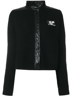 куртка в рубчик с воротником-стойкой Courrèges