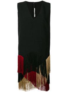 креповое платье с бахромой Miahatami