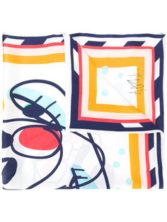 Cheeky Cheek printed scarf Henrik Vibskov