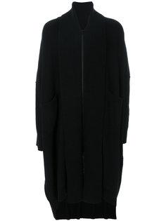 классическое пальто с драпировками Yohji Yamamoto