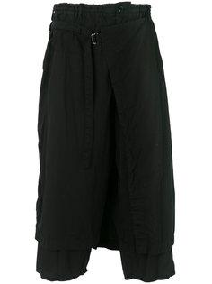 брюки с запахом с заниженной проймой Yohji Yamamoto