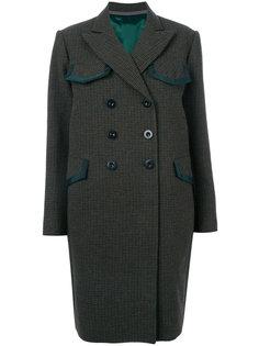 твидовое двухслойное пальто  Sacai