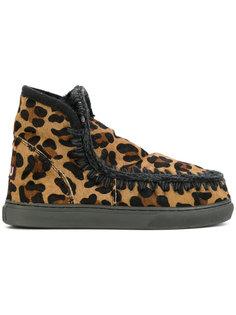 леопардовые ботинки Mini Eskimo Mou
