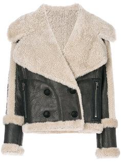 приталенная куртка из овчины  Drome