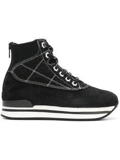 кроссовки на каблуке на молнии Hogan