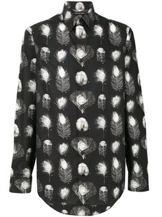 рубашка с перьями Alexander McQueen