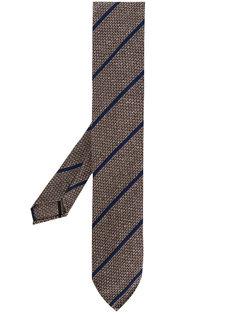 полосатый галстук с вышивкой Lardini