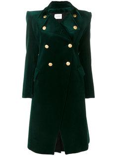 двубортное пальто средней длины  Pierre Balmain