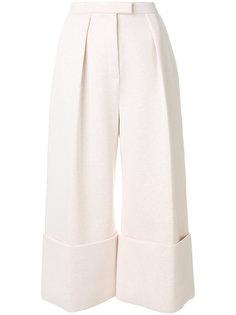 широкие укороченные брюки Delpozo