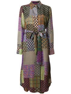 платье-рубашка с лоскутным принтом Maurizio Pecoraro
