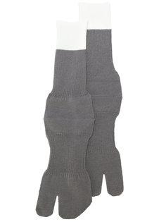 перчатки с контрастным дизайном Maison Margiela