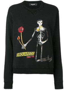 толстовка с принтом скелета Dsquared2