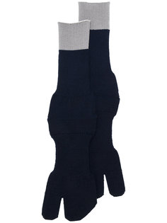 перчатки с контрастной полоской Maison Margiela