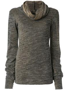 свитер с драпированным воротником Maurizio Pecoraro