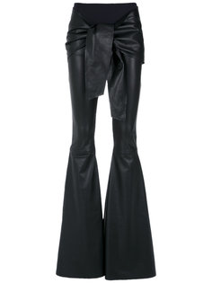 flared leather trousers Andrea Bogosian