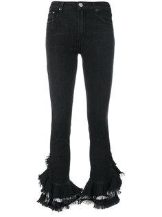 джинсы с завышенной талией и оборкой  Dont Cry