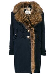 пальто с меховой отделкой  Bazar Deluxe