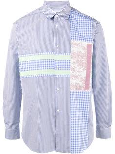 рубашка в полоску в стилистике пэчворк Comme Des Garçons Homme Plus