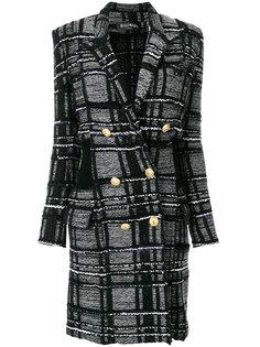 двубортное пальто  Balmain