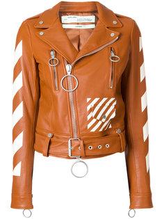 байкерская куртка с принтом  Off-White