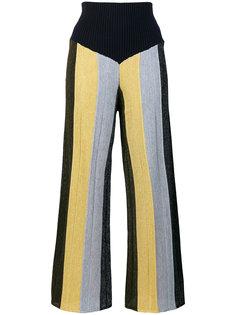 брюки палаццо в полоску с блестками Circus Hotel
