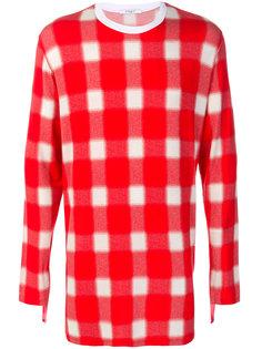 объемный свитер в клетку Givenchy
