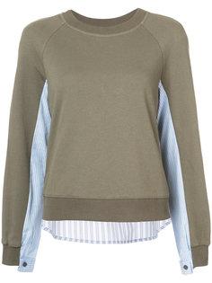 свитер с рубашечной вставкой Derek Lam 10 Crosby