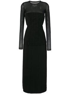 многослойное платье с длинными рукавами Mm6 Maison Margiela