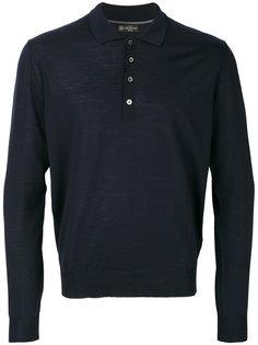 рубашка-поло с длинными рукавами Corneliani