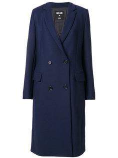 двубортное пальто MSGM