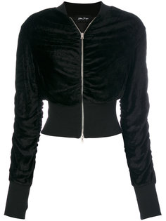 front zip cropped jacket Andrea Yaaqov