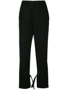 расклешенные брюки с завязками  Yohji Yamamoto