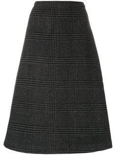 клетчатая юбка А-силуэта Ganni