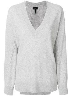 свитер в рубчик с V-образным вырезом  Rag & Bone