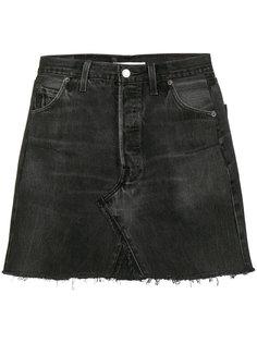 выбеленная джинсовая юбка мини  Re/Done
