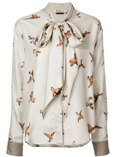 блузка с принтом птиц  Mulberry