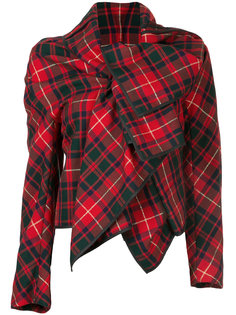tartan wrap jacket  Comme Des Garçons