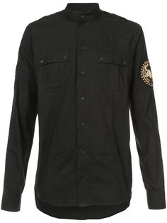 рубашка с нашивкой на рукаве Balmain