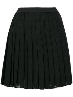 плиссированная короткая юбка Versace Jeans