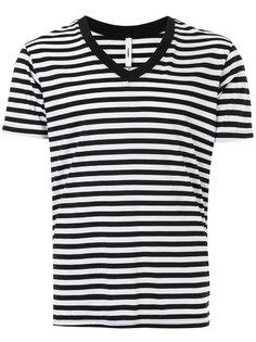 полосатая футболка с V-образным вырезом Attachment